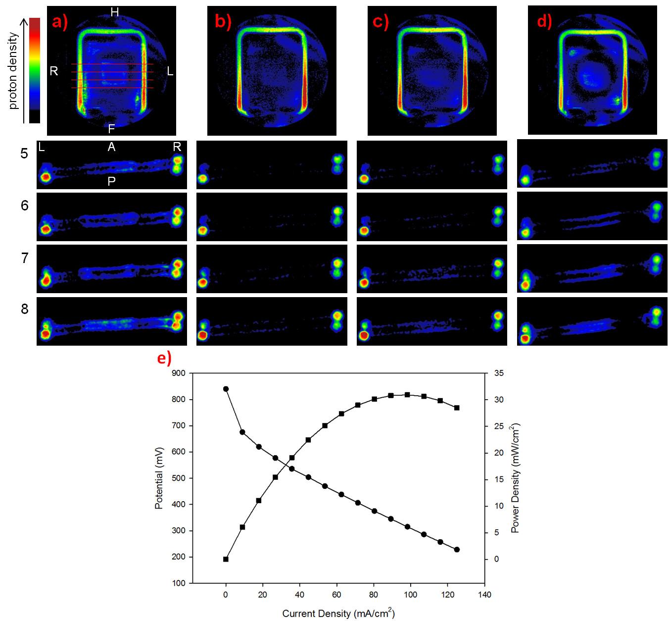 Microimmagini funzionali in condizioni operando di una membrana a base di polibenzimidazolo durante in funzionamento in cella a combustibile