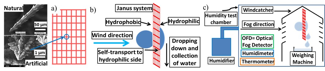 schematic process of atmospheric water harvesting