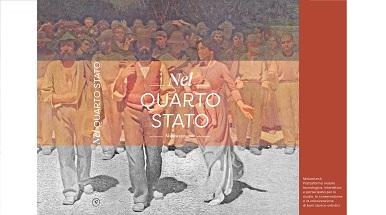 """Copertina del libro """"Nel quarto Stato. Indagine interdisciplinare sull'opera di Giuseppe Pellizza da Volpedo"""""""
